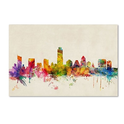 Trademark Fine Art Austin; Texas 30 x 47 Canvas Art