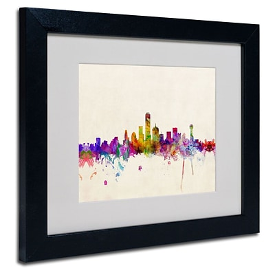Trademark Fine Art Dallas, Texas 11 x 14 Black Frame Art