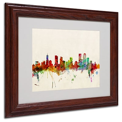 Trademark Fine Art Denver, Colorado 11 x 14 Wood Frame Art