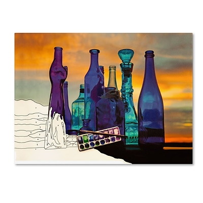 Trademark Fine Art Blue Sunset By Numbers 24 x 32 Canvas Art