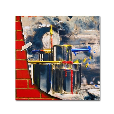 Trademark Fine Art Primary Colors 02 24 x 24 Canvas Art