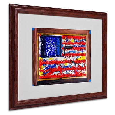 Trademark Fine Art American Paint 16 x 20 Wood Frame Art
