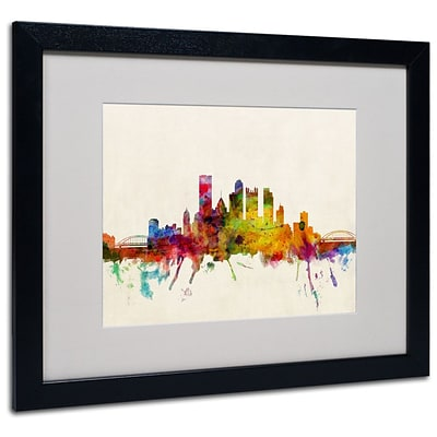 Trademark Fine Art Pittsburgh, Pennsylvania 16 x 20 Black Frame Art