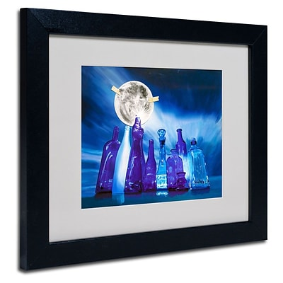 Trademark Fine Art Blue Moon 11 x 14 Black Frame Art