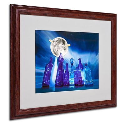Trademark Fine Art Blue Moon 16 x 20 Wood Frame Art