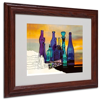 Trademark Fine Art Blue Sunset By Numbers 11 x 14 Wood Frame Art