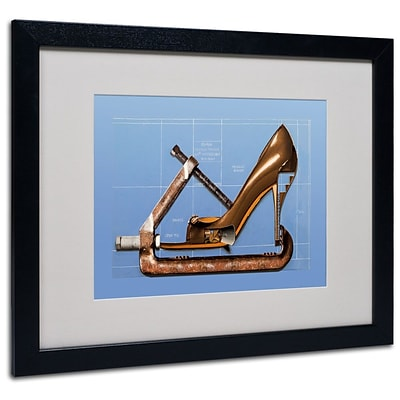 Trademark Fine Art Prada Construction 16 x 20 Black Frame Art