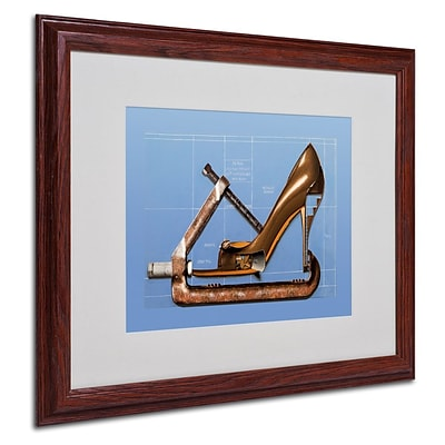 Trademark Fine Art Prada Construction 16 x 20 Wood Frame Art