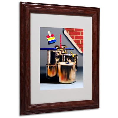 Trademark Fine Art Primary Colors 01 11 x 14 Wood Frame Art
