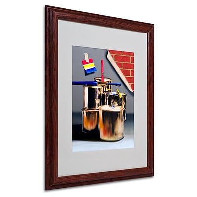 Trademark Fine Art Primary Colors 01 16 x 20 Wood Frame Art
