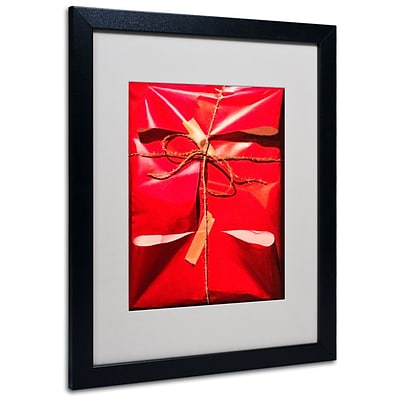 Trademark Fine Art Red Wrap 16 x 20 Black Frame Art