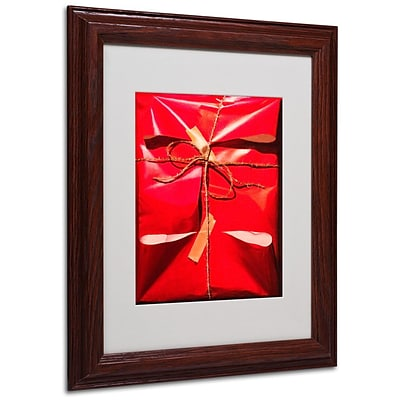 Trademark Fine Art Red Wrap 11 x 14 Wood Frame Art