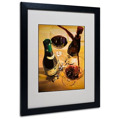 Trademark Fine Art Second Pour 16 x 20 Black Frame Art