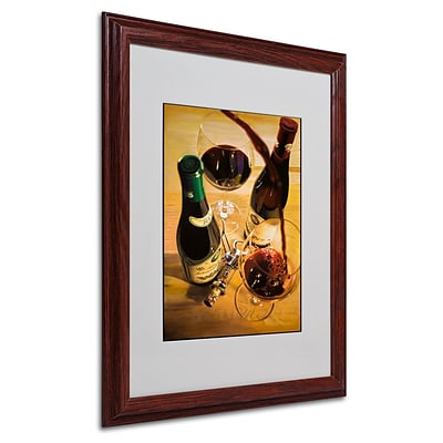Trademark Fine Art Second Pour 16 x 20 Wood Frame Art