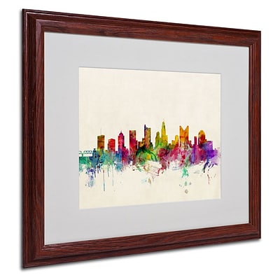 Trademark Fine Art Columbus, Ohio 16 x 20 Wood Frame Art