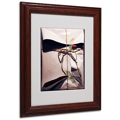 Trademark Fine Art White Wrap With Twine 11 x 14 Wood Frame Art