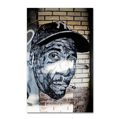 Trademark Fine Art Hiphop Yankee Fan Pop  22 x 32 Canvas Art