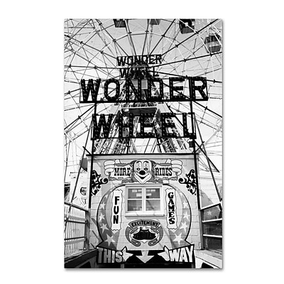 Trademark Fine Art Coney Island Wonder Wheel This Way 16 x 24 Canvas Art