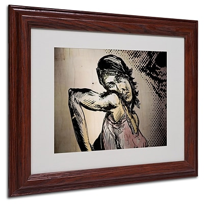 Trademark Fine Art Elbow Up Pop 11 x 14 Wood Frame Art