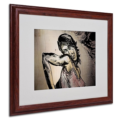 Trademark Fine Art Elbow Up Pop 16 x 20 Wood Frame Art