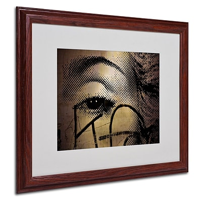 Trademark Fine Art Madonna Eye Pop  16 x 20 Wood Frame Art