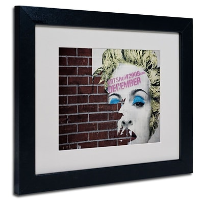 Trademark Fine Art Madonna Pop 11 x 14 Black Frame Art