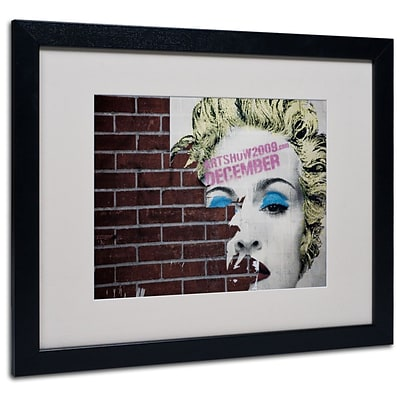 Trademark Fine Art Madonna Pop 16 x 20 Black Frame Art