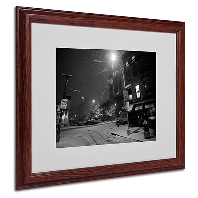 Trademark Fine Art Petes by the Bridge 16 x 20 Wood Frame Art