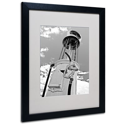 Trademark Fine Art Gas Pump 16 x 20 Black Frame Art