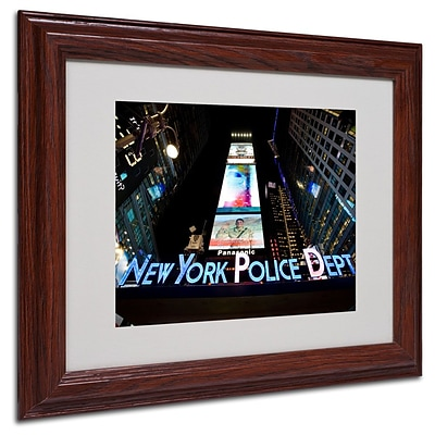 Trademark Fine Art NYPD In Blue Neon 11 x 14 Wood Frame Art