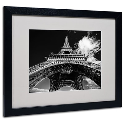 Trademark Fine Art Paris Eiffel Tower 1 16 x 20 Black Frame Art