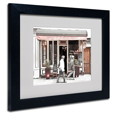 Trademark Fine Art Paris Parisian Bakery 11 x 14 Black Frame Art
