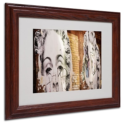 Trademark Fine Art Pop Madonna Meatpacking 11 x 14 Wood Frame Art