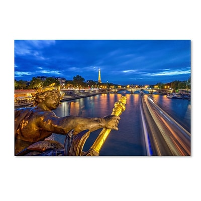 Trademark Fine Art Alexander Bridge Paris 22 x 32 Canvas Art
