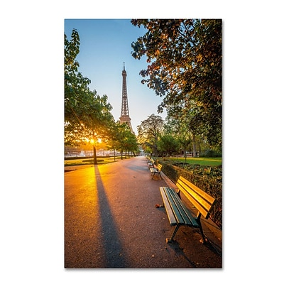 Trademark Fine Art Crazy Morning Light Paris 30 x 47 Canvas Art