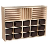 Wood Designs™ Contender™ Multi-Storage With 15 Chocolate Trays, Birch