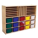 Wood Designs™ Contender™ Fully Assembled Multi-Storage With 15 Assorted Trays, Baltic Birch