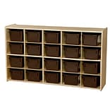 Wood Designs™ Contender™ 20 Tray Storage With Chocolate Trays, Baltic Birch