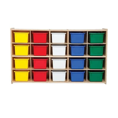 Wood Designs™ Contender™ Fully Assembled 20 Tray Storage With Assorted Trays, Baltic Birch
