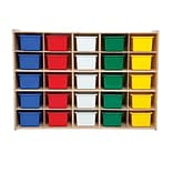 Wood Designs™ Contender™ Fully Assembled 25 Tray Storage With Assorted Trays, Baltic Birch