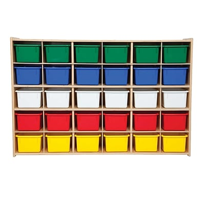 Wood Designs™ Contender™ Fully Assembled 30 Tray Storage With Assorted Trays, Baltic Birch
