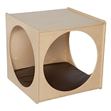 Wood Designs™ Fully Assembled Contender Giant Crawl Through Play Cube With Brown Cushion