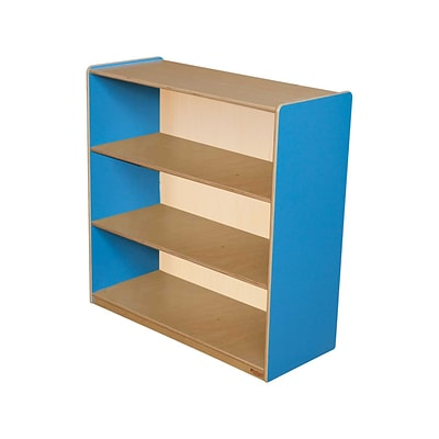 Wood Designs™ Storage 36(H) Fully Assembled Plywood Bookshelf, Blueberry