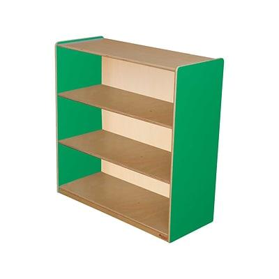 Wood DesignsTM Storage 36H Fully Assembled Plywood Bookshelf Green Apple