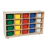 Wood Designs™ 20 Tray Storage With 20 Assorted Trays, Birch