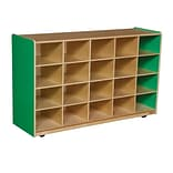 Wood Designs™ 20 Tray Storage Without Trays, Green Apple