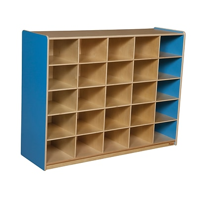 Wood Designs™ 25 Cubby Storage Cabinet Without Trays, Blueberry