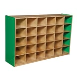 Wood Designs™ 30 Cubby Storage Cabinet Without Trays, Green Apple