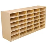 Wood Designs™ 30 - 3 Letter Tray Storage Unit Without Trays, Birch