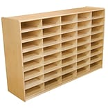 Wood Designs™ 40 - 3 Letter Tray Storage Unit Without Trays, Birch